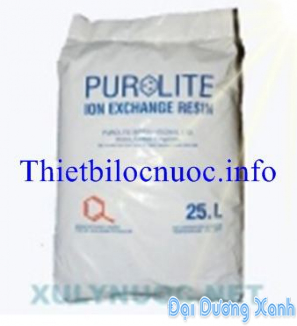 Vật liệu lọc nước hạt nhựa C 100 Purolite xử lý nước cứng