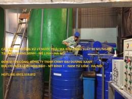 Hệ thống xử lý nước thải mạ kẽm 80 M3/ngày KCN Quang Minh