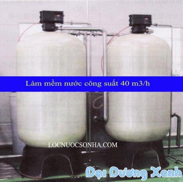 Thiết bị làm mềm nước nồi hơi công suất 40m3/h